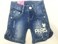 baby brands direct - Factoroy Direct New Children Rippde Short Jeans Jewelry Inlaid Baby Kids Above Knee Elastic Jeans