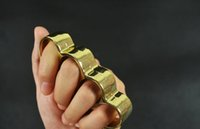 belt clutch - 1 F S THICK CHROMED KIRSITE BRASS KNUCKLES Knuckle Dusters Belt Buckle Knuckle Clutch Boxing Protective Gear