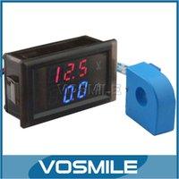 Wholesale DC Voltage Current Monitor Meter Voltage Current Measure Meter Red Blue Dual Display Voltmeter Ammeter in1
