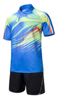 badminton clothes men - Badminton clothing good top quality jersey Badminton clothes black red yellow white blue t shirts and shorts high quality