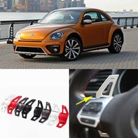 Wholesale 2pcs High Quality Alloy Add On Steering Wheel Paddle Shifters Extension For VW Beetle