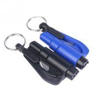 Wholesale Car Auto Emergency Safety Hammer Belt Window Breaker Key Chain Escape Tools New
