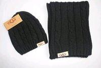 Wholesale 2016 Top quality Winter Brand crochet scarfs warm Scarf hat set men women scarf hat new scarf and caps hat winter cap Winter Scarf XMAS gift