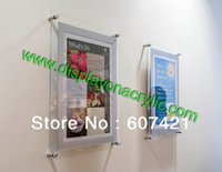 acrylic certificate frames - Wall Mounted x11 quot Acrylic Plexiglass Floating Poster Frames Advertising Boards for certificate landscape pict ures etc