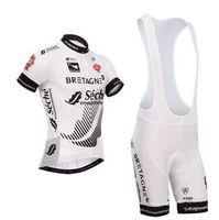 Wholesale HOT Sale Bretagne Seche Cycling Jersey Ropa Ciclismo Short Sleeve bib shorts set Bike Clothing sportswear Customize Accepted