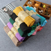 big red linen - Hot style scarf qiu dong han edition female cotton and linen scarves candy color long towel big long shawl scarf