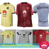 Cheap American club 2017 soccer jersey thai quality 16 17 Mexico american club football shirts red yellow grey soccer jersey