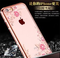 Wholesale Phone Case For iphone TPU phone shell protection S all inclusive secret garden butterfly diamond drop soft shell