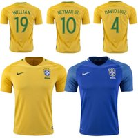 american thailand - Brazil Jerseys American Cup Brazil shirt Top Thailand Neymar JR WILLIAN OSCAR Jersey send socks
