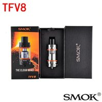 Wholesale Authentic Smok TFV8 ml Tank Smok Single Kit Electronic Cigarette Sub Ohm Tank vs tfv4 mini tank Fit Wismec Reuleaux RX200W Box Mod