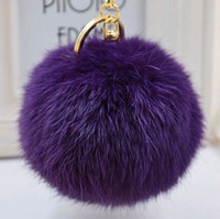 Wholesale Hot Sale cm Fluffy Ball Keychain Cute Pompom Simulation Rabbit Fur Ball Key Chain For Car Key Ring Car Bag Pendant Chaveiro