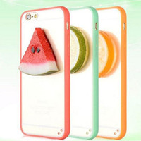 Cheap 10pcs 2015 new Pop summer cool Fruit case for iphone6 6 plus 5 5s TPU +PC plate A+ quality case