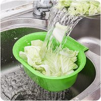Wholesale Fruit vegetable waterlogging rack Governance Multifunctional Drain Storage basket Kitchen Plastic Wash dishes