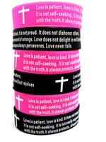 bible verses wedding - Inspirational Love Corinthians cross Bible Verse Wedding Band bracelet wristbandsAnniversary
