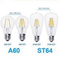 antique ball lamps - E27 Antique LED V V Retro LED Filament Lamp LED Glass Bulb A60 ST64 W W W W Globe Bulb Ball Light