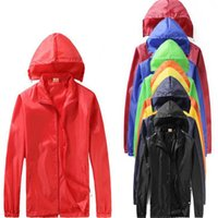 Wholesale NEW Hiking Windbreaker Women Men raincoat Outdoor Sport Waterproof Jacket Windproof Quick dry Clothes Plus Size Outwear customizable B0187