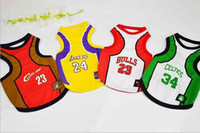 brand clothes cheap - 4 Basketball Teams Dog Clothes Fashion Pet Products Spring And Summer Cheap Basketball new brand hight quality