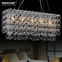 Wholesale Modern Glass Chandelier Lustres Rectangle Lighting Fxiture Hotel Bedroom Dining Room Suspension Light Lamp Guarentee