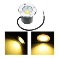 spotlight floor lamp - LED Underground Light Landscape Step Lighting Waterproof IP67 AC110 V W COB Outdoor Buried Recessed Floor Lamp LED Spotlights