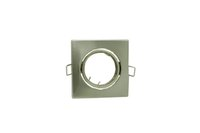 Wholesale Nickle Square Recessed LED Ceiling Light Adjustable Frame MR16 GU10 Bulb Fixture Housing