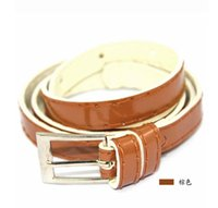 Cheap Fashion Womens Leather Waistbelt Metal Clip Needle Belts Pants Jeans Shorts Ladies waist silm belt Strap
