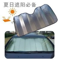 Wholesale Window Foils Sun Shade Car Windshield Visor Cover Block Front Window Sunshade UV Protect Car Window Film Car Styling