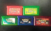 Wholesale Video Games Hottest poke Mix order GBA allowed emerald ruby fire red sapphire leaf green Fast Shipping
