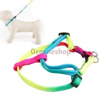 Wholesale Pulling Rope Harness Adjustable Leash for Pets Dog Seven Color
