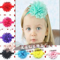 beautiful newborn photography - 1pcs Newborn Baby Kids Children Girls Flower Headband Beautiful Elastic Soft Chiffon Hair Accessories Photography Props TL012