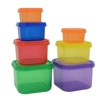 Wholesale 21days Workout Food Container Plastic Meal Box for Fitness Exercise Supplement Energy Container