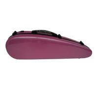 Wholesale The violin elegant pink composite carbon fiber high grade violin case