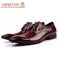 animal print dress uk - GRIMENTIN Fashion UK designer formal men dress shoes genuine leather black luxury wedding shoes men flats office for men new ox6