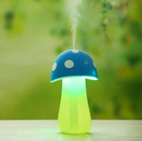 Wholesale Four colors choice Mushroom Ultrasonic Mini Humidifier Air Portable USB Essential Oil Electric Car Aroma Diffuser Purifier Mist Maker