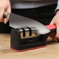 Wholesale New Two Stages Diamond Ceramic Kitchen Knife Sharpeners Sharpening Stone Household Sharpener Kitchen Knives Tools Knives Tools