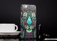 animal cell phone covers - Aztec D Printing Animal Faces Protective Case Hard Back Plastic Cases Cover For iPhone Plus Samsung S5 S6Note4 Other Cell Phone