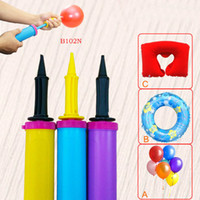 balloon animals pump - Mini Two way Balloon Pump Hand Held Dual Action Plastic Portable Inflator Candy Color diameter cm HH P01