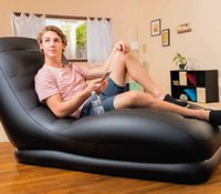 Wholesale Upscale backrest recliner sofa lazy leisure inflatable sofa BT204