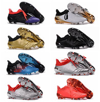 Wholesale Cheap Spiked Shoes For Men - X 16+ Purechaos FG AG Cheap Football Boots Mens Soccer Cleats For Men Soccer Boots Purechaos 2016 New Football Soccer Shoes Football Cleats