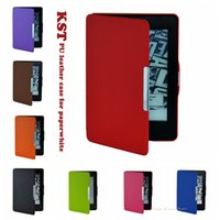amazon ereader - For Amazon kindle paperwhite smooth KST printed slim inch ereader magnetic auto sleep cover case pen stylus flim