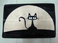 area printing machines - Black cat front door mat cartoon suede printed area rug for living room kitchen rugs antislip bath mats doormat home decoration carpet