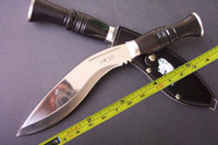 Wholesale 12 quot NEW Mirror light Survival Kukri Machete Bowie Hunting Knife C142