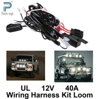 Wholesale Universal Car Fog Light Wiring Harness Kit Loom For LED Work Driving Light Bar With Fuse And Relay Switch V A