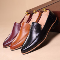 Wholesale Leather shoes Leisure Work boots Business dress shoes Men s wedding shoes pointed Married shoes increased Korean tidal shoes Office Shoes