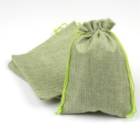 Wholesale 13x18cm Hessian Linen Rustic Burlap Drawstring Jute Bag Candy Gift Christmas Herb Seed Wedding Favors Packaging Pouches Home Storage Bags
