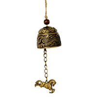 antique door bell - Metal Small Feng Shui Wind Chimes Vintage Dragon Fish Pendant Hanging Bell Door Chimes Blessing Chinese Style Decoration