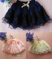 Wholesale DHL Toddler Baby Girls Kids Lace Princess Dress Mini Bust Skirt Tutu Dress Short Skirts Kids Children Pettiskirt Ball Gown ZJ S01