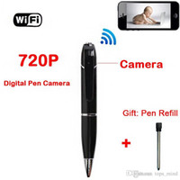 Wholesale 720p HD Wireless Wifi Ip Hidden Spy Pen Video Camera for Android And Ios H Mini with Built in DVR Hidden Pen