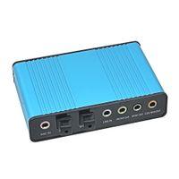 Wholesale Original CM6206 Chipset External USB Sound Card Channel Optical Audio Card Adapter for PC Computer Laptop Professional
