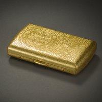 antique cigarette cases - 2015 HOT KUBOY Cigarette case Gold Freeshopping KC7 bronze printing antique Connotation