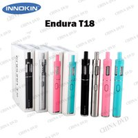 Cheap Original Innokin Endura T18 Vaporizer Starter Kit 1000mah T18 Battery 2.5ml Top Fill Sub ohm Tank Vs Kanger Evod Mega Pro Ecigarette